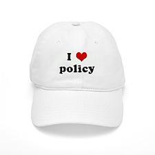 I Love policy Baseball Cap