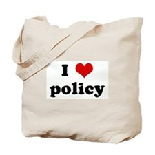 I Love policy Tote Bag