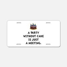 Cake Meeting Aluminum License Plate