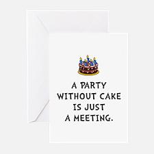 Cake Meeting Greeting Cards (Pk of 20)