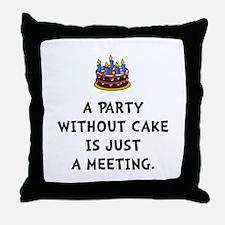 Cake Meeting Throw Pillow