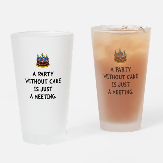 Cake Meeting Drinking Glass