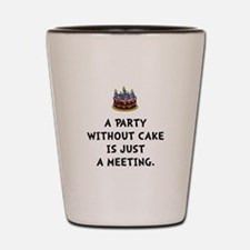 Cake Meeting Shot Glass