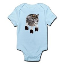 Eagle Feathers Wolf Infant Bodysuit