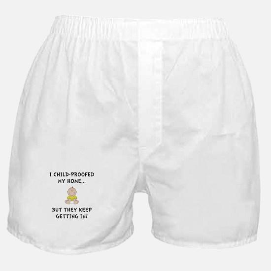 Child Proofed Boxer Shorts