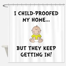 Child Proofed Shower Curtain