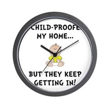 Child Proofed Wall Clock