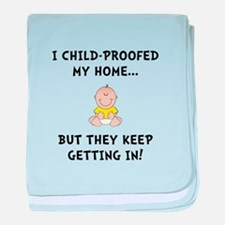 Child Proofed baby blanket