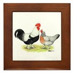 Dorking Chickens Framed Tile