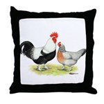 Dorking Chickens Throw Pillow