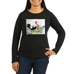 Dorking Chickens Women's Long Sleeve Dark T-Shirt