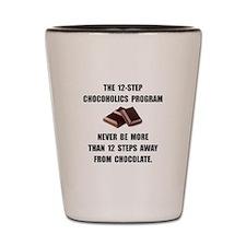 Chocoholics Program Shot Glass