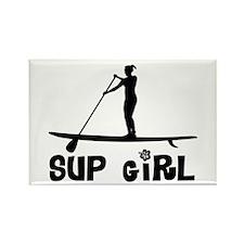 SUP_Girl-b Rectangle Magnet