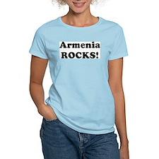 Armenia Rocks! Women's Pink T-Shirt