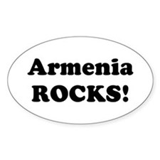 Armenia Rocks! Oval Decal