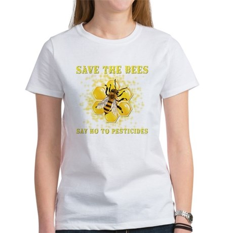 Save The Bees Women 39 S Classic White T Shirt Save The Bees