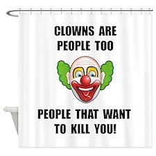 Clown Kill Shower Curtain