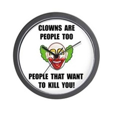 Clown Kill Wall Clock