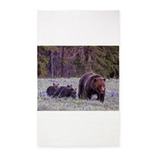 Grizzly Bear 399 3'x5' Area Rug