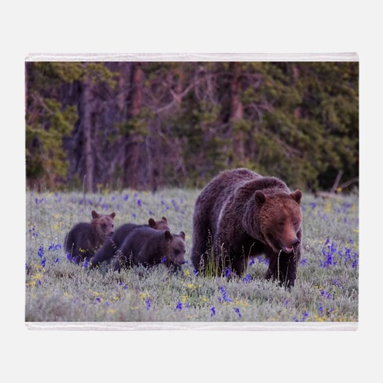 Grizzly Bear 399 Throw Blanket