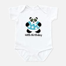Personalized Panda Birthday Infant Bodysuit