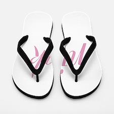 pink! flip flops for the athletic ladies