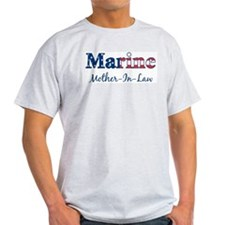 Marine Mother-In-Law (Patriot Ash Grey T-Shirt