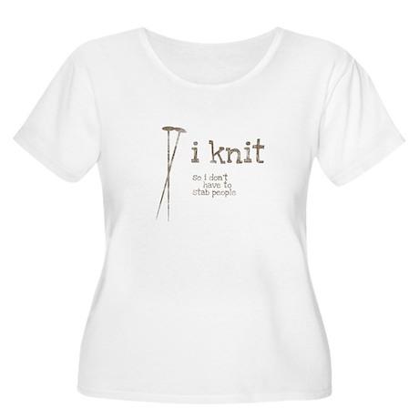 knit1-transparent Plus Size T-Shirt