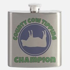 Cow tipping champion Flask