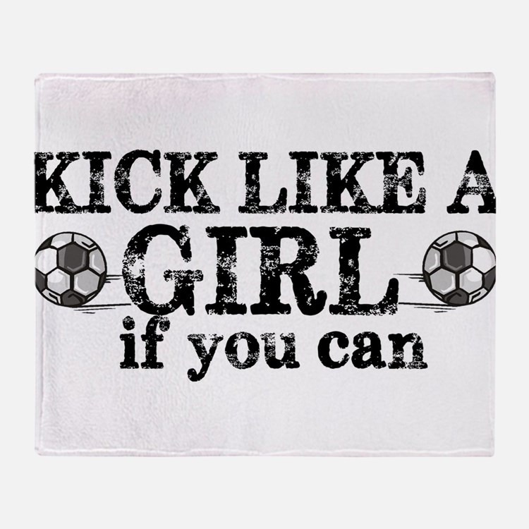 Kick Like A Girl Throw Blanket