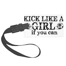 Kick Like A Girl Luggage Tag