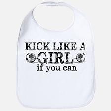 Kick Like A Girl Bib