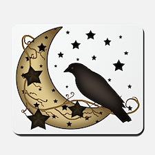 Crow on the Moon Mousepad
