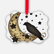 Crow on the Moon Ornament