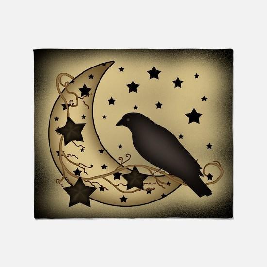 Starlight crow Throw Blanket