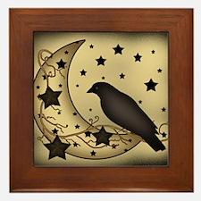 Starlight crow Framed Tile