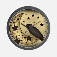 Starlight crow Wall Clock