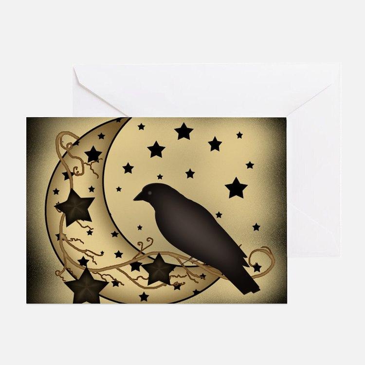 Starlight crow Greeting Card
