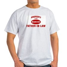 Marine FATHER-IN-LAW (Propert Ash Grey T-Shirt