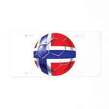 Norwegian Football Aluminum License Plate