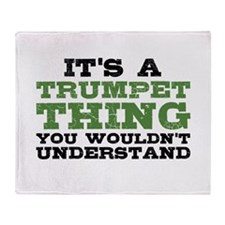 It's a Trumpet Thing Throw Blanket