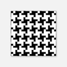 Retro Houndstooth Vintage Black Sticker