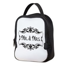 Mr. Mrs. Neoprene Lunch Bag Wedding Gift