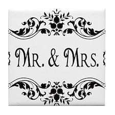 Mr. Mrs. Tile Coaster