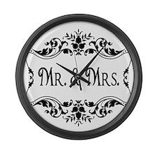 Mr. Mrs. Large Wall Clock