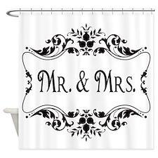 Mr. Mrs. Shower Curtain