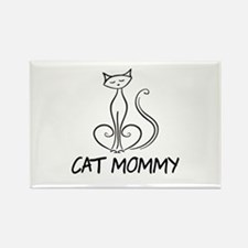 Cat Mommy Rectangle Magnet