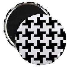 Reto Houndstooth Vintage Black Magnet