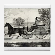 The road,--summer - 1853 Tile Coaster