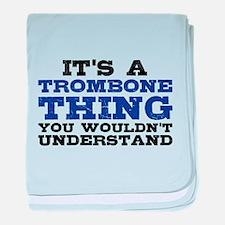 It's a Trombone Thing baby blanket